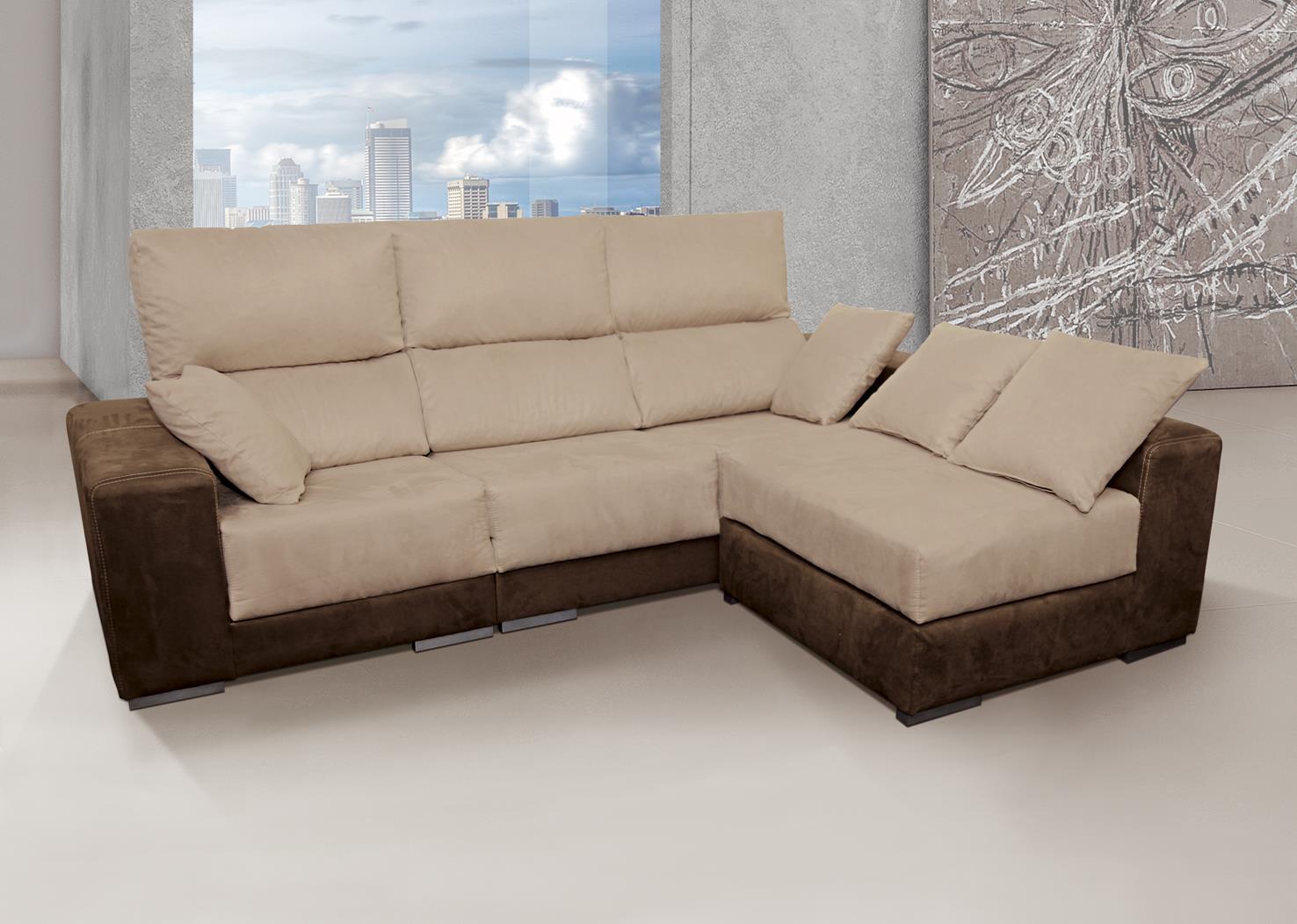 Chaisselongue m s 3 plazas reversible con 4 pouf muebles for Muebles bandama