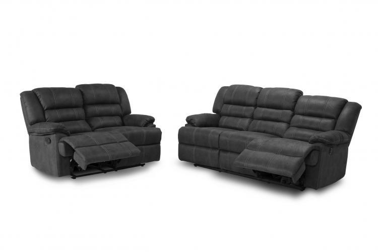Conjunto sofá 3 plazas mas 2 plazas con 4 relax