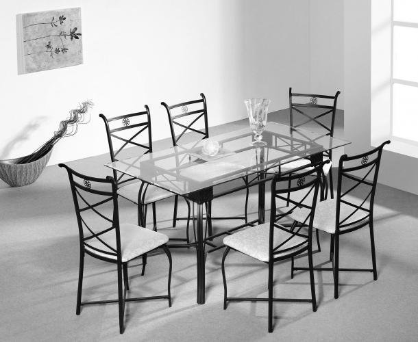 Conjunto mesa de comedor más 6 sillas